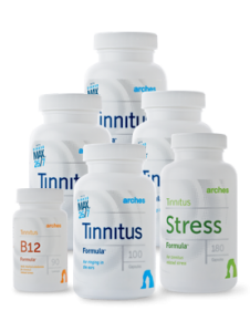 Arches Tinnitus Combo Pack with Tinnitus, Stress and B12 Formulas